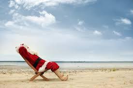 santa relaxing