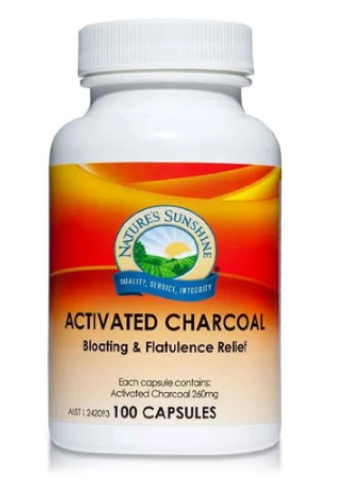 Nature's Sunshine Activated Charcoal 260mg | 100 capsules