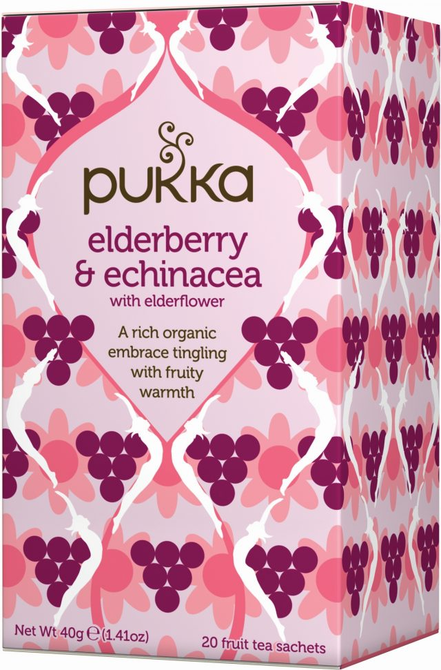 Pukka Elderberry & Echinacea Organic Tea Bags | 20 pack