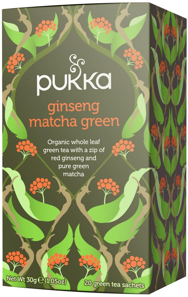 Pukka Ginseng Matcha Green Organic Tea Bags | 20 pack