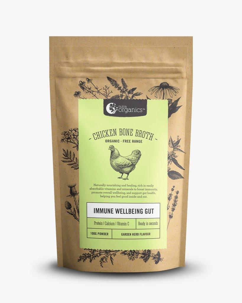 Nutra Organics Chicken Bone Broth | 125g Garden Herb