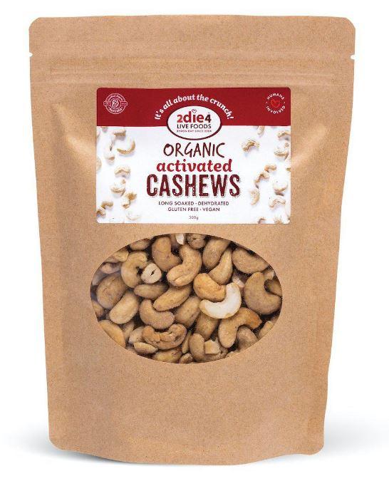 2die4 Activated Organic Cashews | 120g