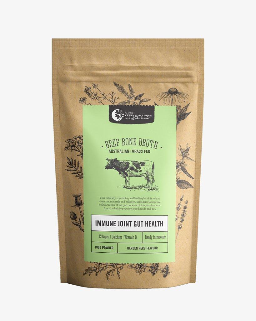 Nutra Organics Beef Bone Broth | 125g Garden Herb
