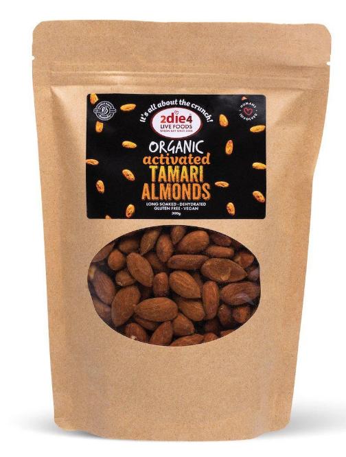 2die4 Activated Organic Tamari Almonds | 120g