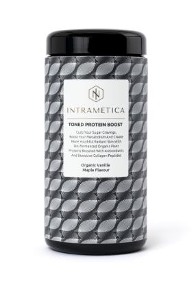 Intrametica Toned Protein Boost  in Miron Preserving Caddie | 400g Organic Vanilla Maple