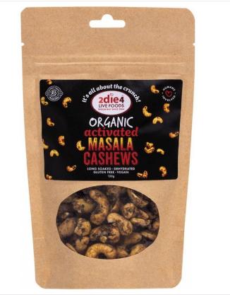 2die4 Activated Organic Masala Cashews | 120g