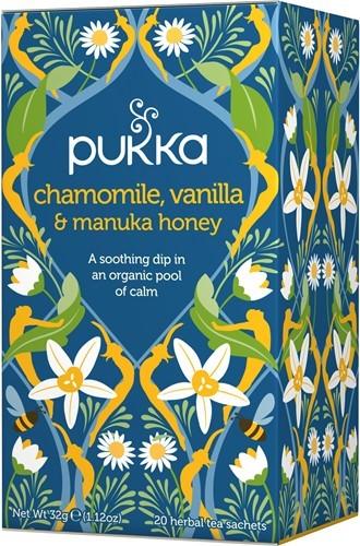 Pukka Chamomile, Vanilla & Honey Organic Tea Bags | 20 pack