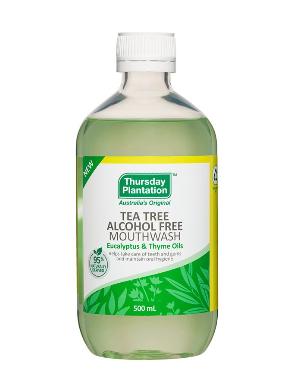 Thursday Plantation Tea Tree Mouthwash | 500ml Eucalyptus & Thyme