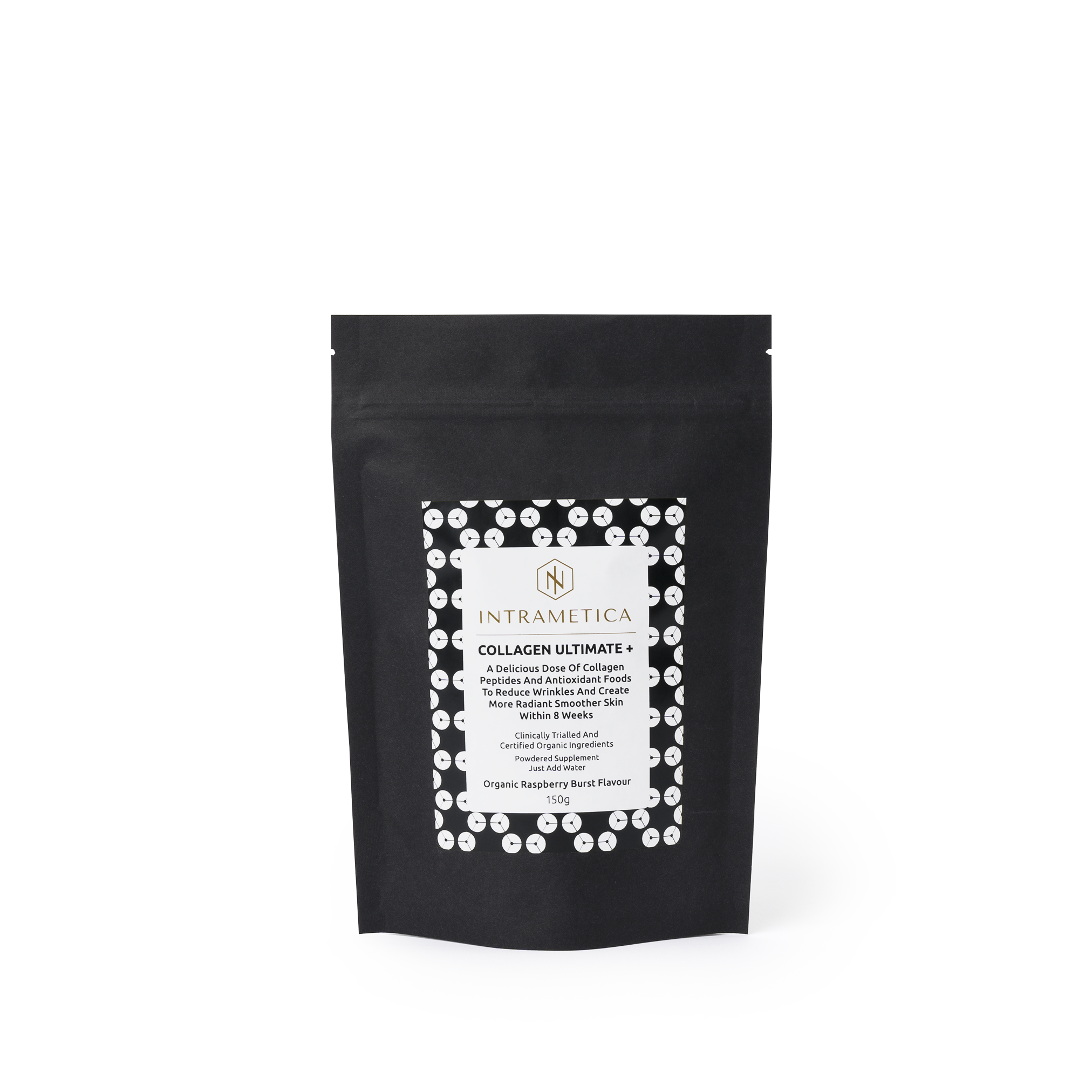 Intrametica Collagen Ultimate+ Pouch | 150g Organic Raspberry Burst