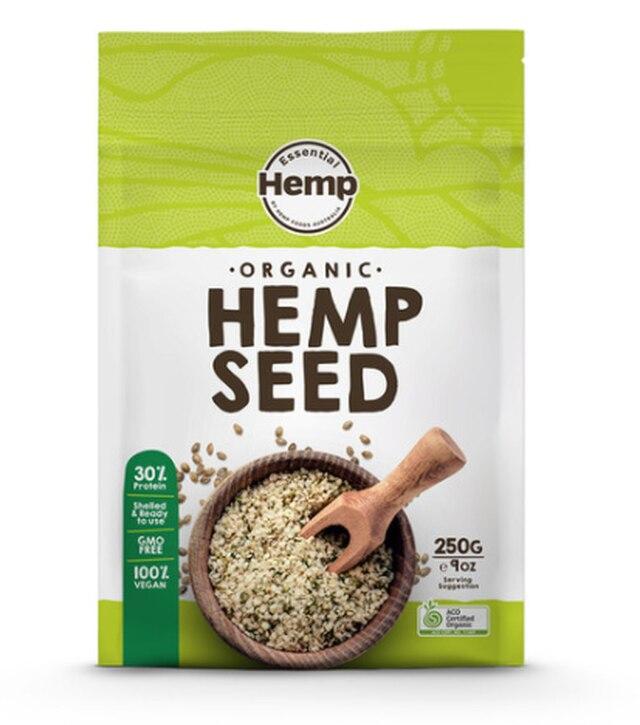 Essential Hemp Organic Hulled Hemp Seeds | 250g