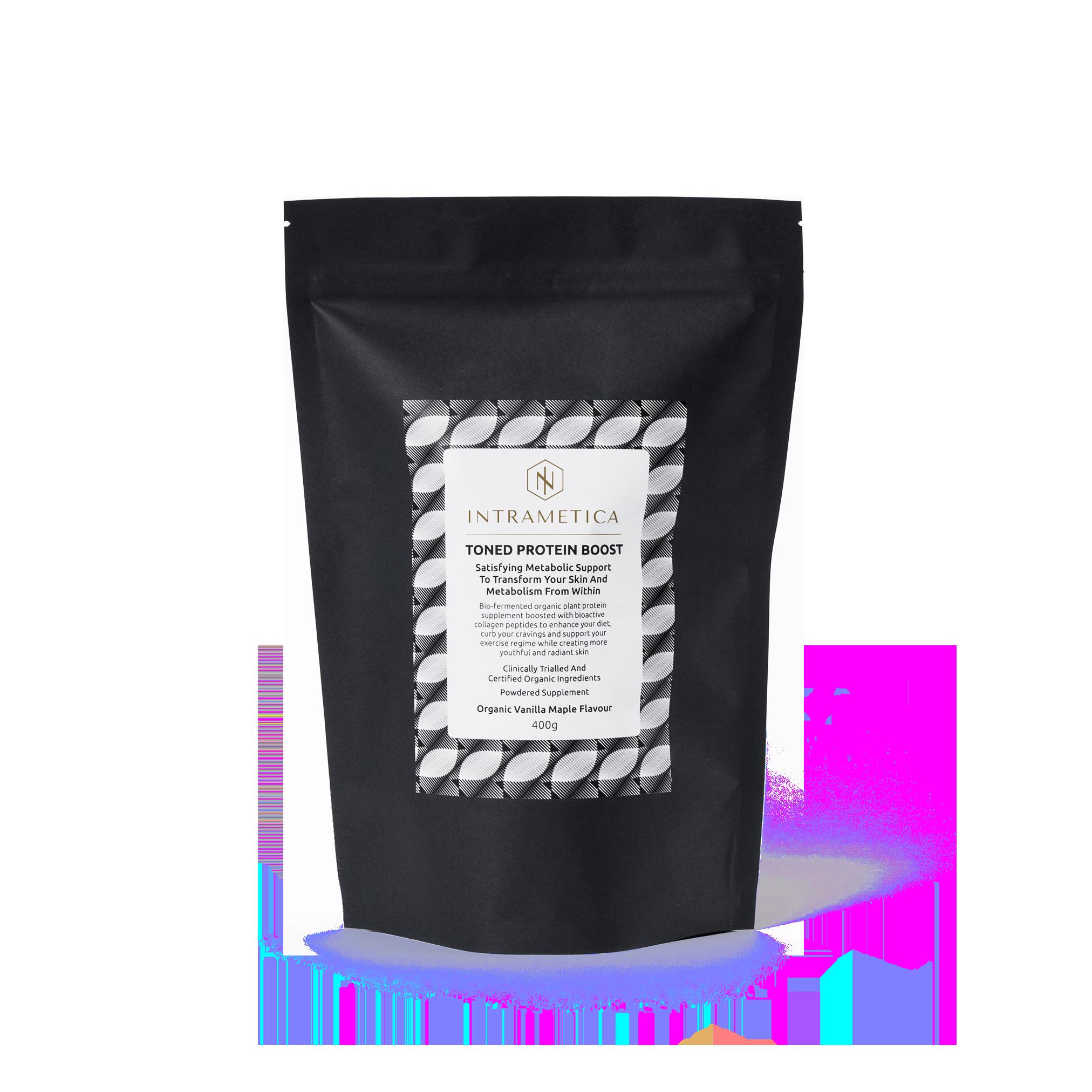 Intrametica Toned Protein Boost Pouch | 400g Organic Vanilla Maple