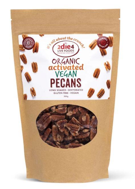 2die4 Activated Organic Vegan Pecans | 120g