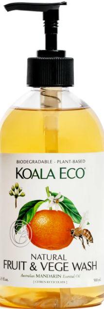 Koala Eco Fruit & Vege Wash | 500ml Mandarin Essential Oil